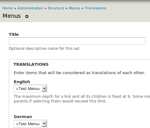 Drupal - Internationalization - Menu translation