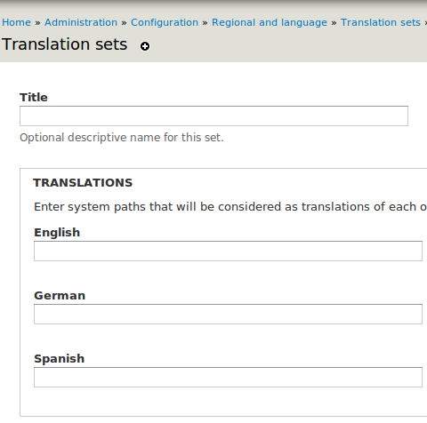 Drupal - Internationalization - Path translation