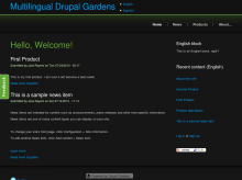 Multilingual Web with Drupal Gardens - English Home