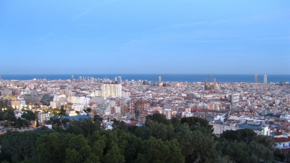 Foto de Barcelona vista desde el Parque Güell