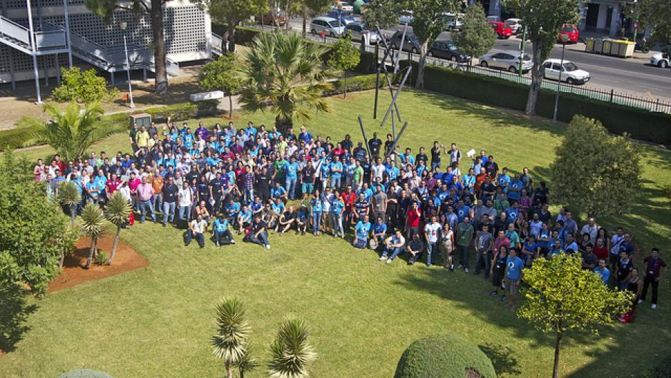 Foto de grupo de Drupalcamp Spain 2011 en Sevilla