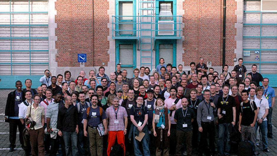 Group photo - Drupalcon Brussels 2006 attendees