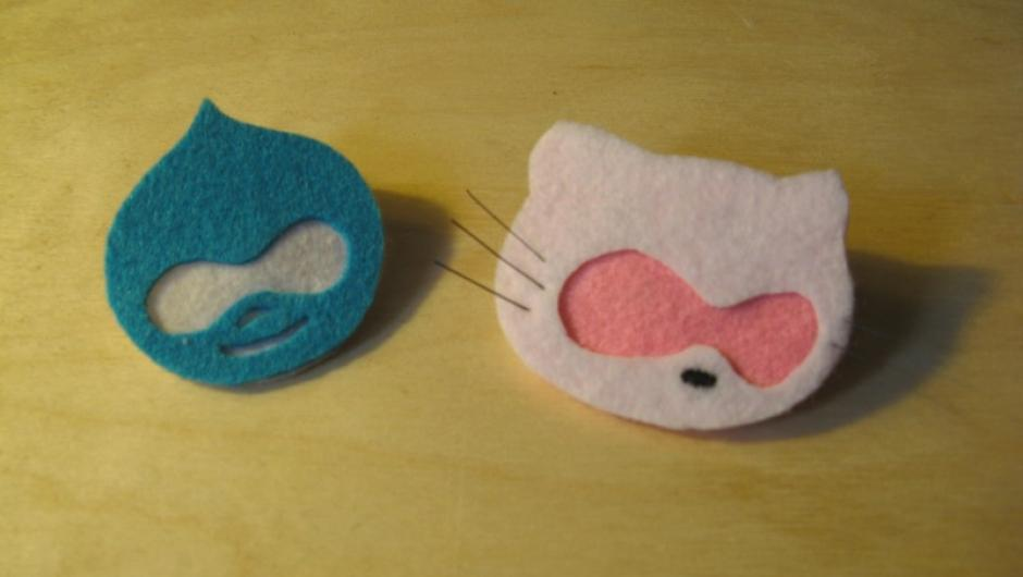 Picture of Hello Drupal! Hello Kitty! hand made in fabric.