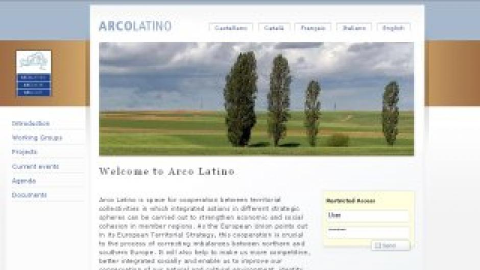 Arcolatino.org - Screenshot