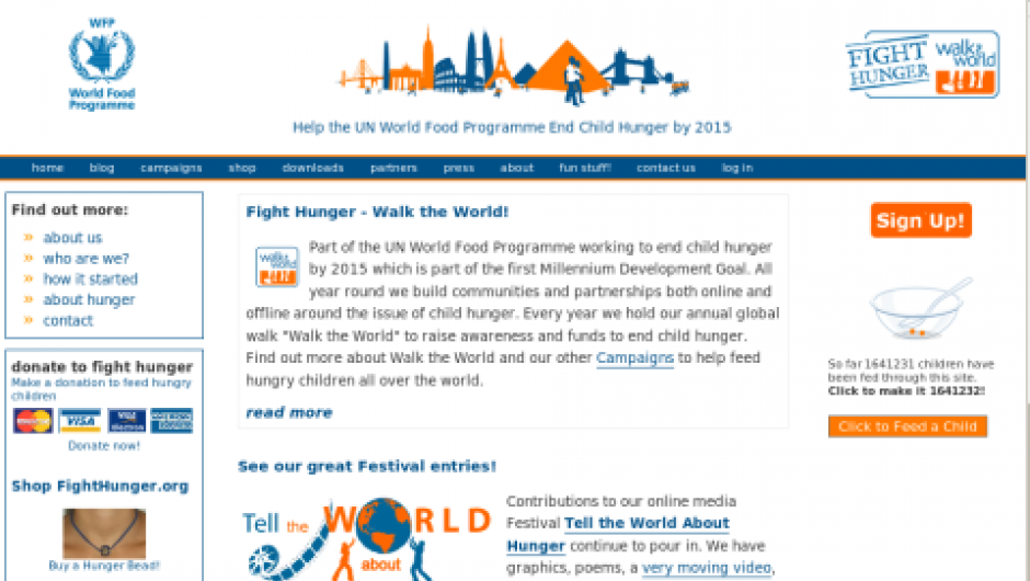 Fighthunger.org screenshot